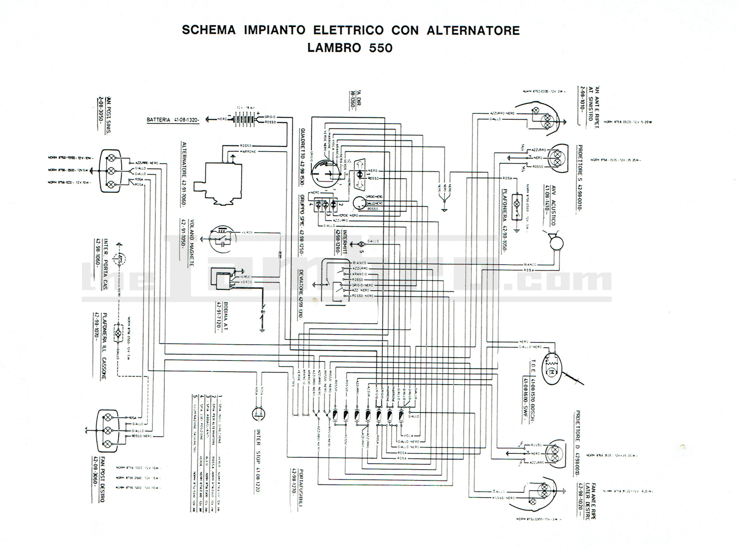 Electrics Fig Back Of Typical Alternator Illustrating Wiring Lambro 450 With